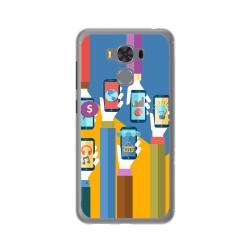 """Funda Gel Tpu para Asus Zenfone 3 Max 5.5"""" Zc553Kl Diseño Apps Dibujos"""