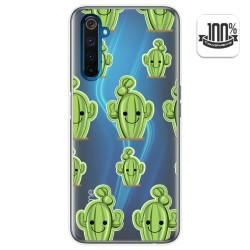 Funda Gel Transparente para Realme 6 Pro diseño Cactus Dibujos
