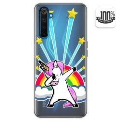 Funda Gel Transparente para Realme 6 Pro diseño Unicornio Dibujos