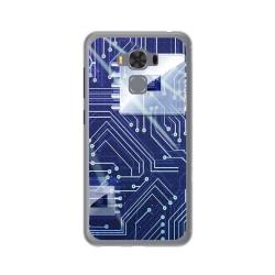 """Funda Gel Tpu para Asus Zenfone 3 Max 5.5"""" Zc553Kl Diseño Circuito Dibujos"""