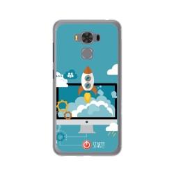 """Funda Gel Tpu para Asus Zenfone 3 Max 5.5"""" Zc553Kl Diseño Cohete Dibujos"""