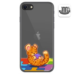 Funda Gel Transparente para Iphone SE 2020 diseño Leopardo Dibujos
