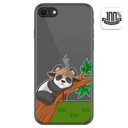 Funda Gel Transparente para Iphone SE 2020 diseño Panda Dibujos