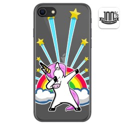 Funda Gel Transparente para Iphone SE 2020 diseño Unicornio Dibujos
