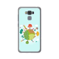 """Funda Gel Tpu para Asus Zenfone 3 Max 5.5"""" Zc553Kl Diseño Familia Dibujos"""