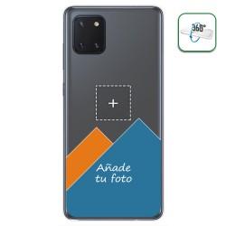 Personaliza tu Funda Pc + Tpu 360 con tu Fotografia para Samsung Galaxy Note 10 Lite dibujo personalizada