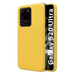 Funda Silicona Líquida Ultra Suave para Samsung Galaxy S20 Ultra color Amarilla