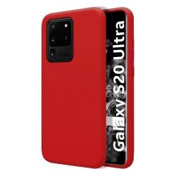 Funda Silicona Líquida Ultra Suave para Samsung Galaxy S20 Ultra color Roja