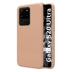 Funda Silicona Líquida Ultra Suave para Samsung Galaxy S20 Ultra color Rosa