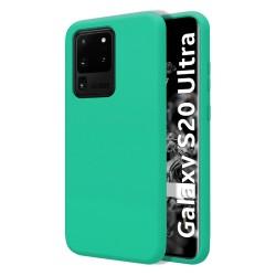 Funda Silicona Líquida Ultra Suave para Samsung Galaxy S20 Ultra color Verde