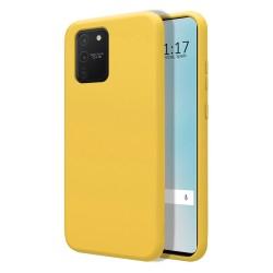 Funda Silicona Líquida Ultra Suave para Samsung Galaxy S10 Lite color Amarilla