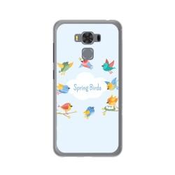"Funda Gel Tpu para Asus Zenfone 3 Max 5.5"" Zc553Kl Diseño Spring Birds Dibujos"