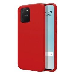Funda Silicona Líquida Ultra Suave para Samsung Galaxy S10 Lite color Roja