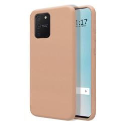 Funda Silicona Líquida Ultra Suave para Samsung Galaxy S10 Lite color Rosa