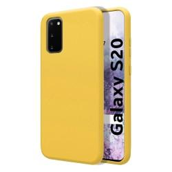Funda Silicona Líquida Ultra Suave para Samsung Galaxy S20 color Amarilla
