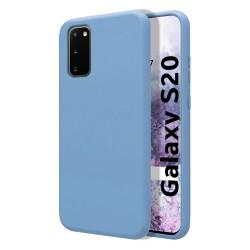 Funda Silicona Líquida Ultra Suave para Samsung Galaxy S20 color Azul Celeste