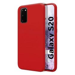 Funda Silicona Líquida Ultra Suave para Samsung Galaxy S20 color Roja