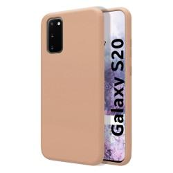 Funda Silicona Líquida Ultra Suave para Samsung Galaxy S20 color Rosa