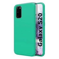 Funda Silicona Líquida Ultra Suave para Samsung Galaxy S20 color Verde