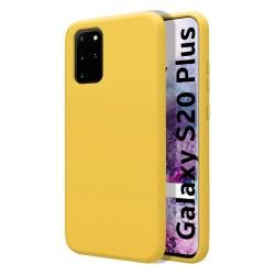 Funda Silicona Líquida Ultra Suave para Samsung Galaxy S20+ Plus color Amarilla