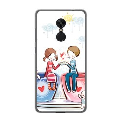 Funda Gel Tpu para Xiaomi Redmi Note 4X / Note 4 Version Global Diseño Cafe Dibujos