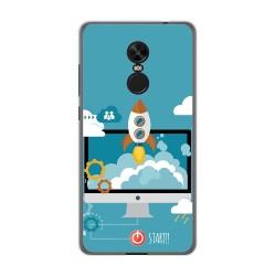 Funda Gel Tpu para Xiaomi Redmi Note 4X / Note 4 Version Global Diseño Cohete Dibujos