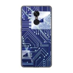 Funda Gel Tpu para Xiaomi Redmi Note 4X / Note 4 Version Global Diseño Circuito Dibujos