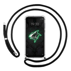 Funda Colgante Transparente para Xiaomi Black Shark 3 con Cordon Negro