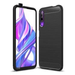 Funda Gel Tpu Tipo Carbon Negra para Huawei P Smart Pro