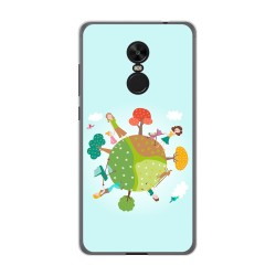 Funda Gel Tpu para Xiaomi Redmi Note 4X / Note 4 Version Global Diseño Familia Dibujos