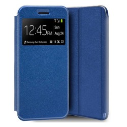 Funda Libro Soporte con Ventana para Iphone SE 2020 color Azul
