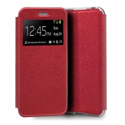 Funda Libro Soporte con Ventana para Iphone SE 2020 color Roja