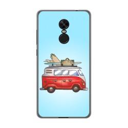 Funda Gel Tpu para Xiaomi Redmi Note 4X / Note 4 Version Global Diseño Furgoneta Dibujos
