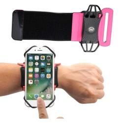 Pulsera Deportiva color Rosa con Brazalete Universal Giratorio para Teléfono
