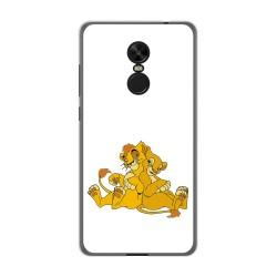 Funda Gel Tpu para Xiaomi Redmi Note 4X / Note 4 Version Global Diseño Leones Dibujos