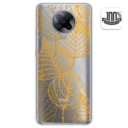 Funda Gel Transparente para Xiaomi POCO F2 Pro diseño Hojas Dibujos