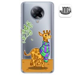Funda Gel Transparente para Xiaomi POCO F2 Pro diseño Jirafa Dibujos