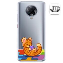 Funda Gel Transparente para Xiaomi POCO F2 Pro diseño Leopardo Dibujos