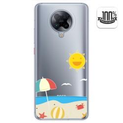Funda Gel Transparente para Xiaomi POCO F2 Pro diseño Playa Dibujos