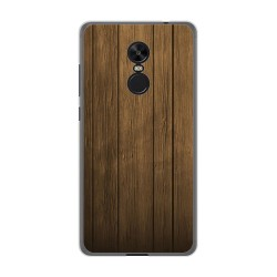 Funda Gel Tpu para Xiaomi Redmi Note 4X / Note 4 Version Global Diseño Madera Dibujos