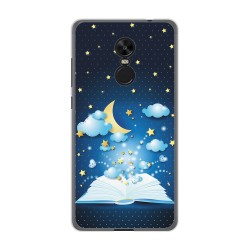 Funda Gel Tpu para Xiaomi Redmi Note 4X / Note 4 Version Global Diseño Libro Cuentos Dibujos