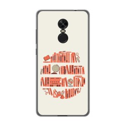 Funda Gel Tpu para Xiaomi Redmi Note 4X / Note 4 Version Global Diseño Mundo Libro Dibujos