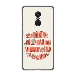 Funda Gel Tpu para Xiaomi Redmi Note 4X / Note 4 Version Global Diseño Mundo Libro Dibujos
