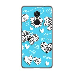 Funda Gel Tpu para Xiaomi Redmi Note 4X / Note 4 Version Global Diseño Mariposas Dibujos
