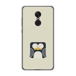 Funda Gel Tpu para Xiaomi Redmi Note 4X / Note 4 Version Global Diseño Pingüino Dibujos