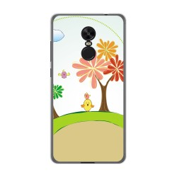 Funda Gel Tpu para Xiaomi Redmi Note 4X / Note 4 Version Global Diseño Primavera Dibujos