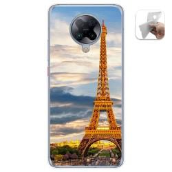 Funda Gel Tpu para Xiaomi POCO F2 Pro diseño Paris Dibujos