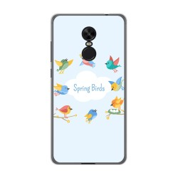 Funda Gel Tpu para Xiaomi Redmi Note 4X / Note 4 Version Global Diseño Spring Birds Dibujos