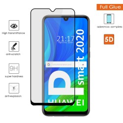 Protector Cristal Templado Completo 5D Full Glue Negro para Huawei P Smart 2020 Vidrio