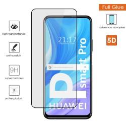Protector Cristal Templado Completo 5D Full Glue Negro para Huawei P Smart Pro Vidrio